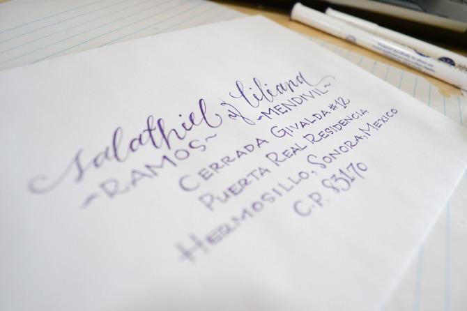 Handwritten calligraphy lynet s art