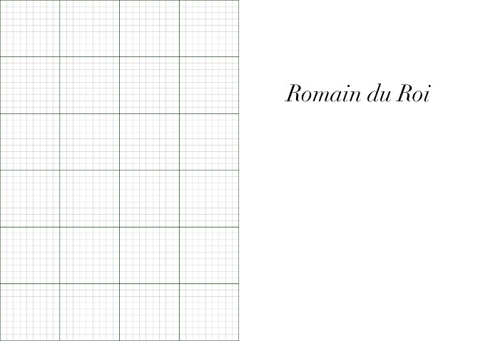 Font study romain du roi kreative graphics by katy for Naked fish millbrae